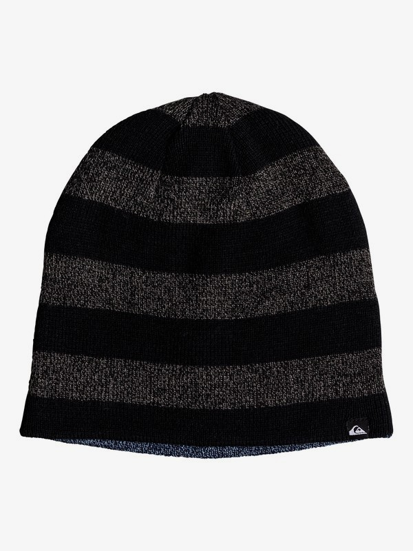 0 Quiksilver - Reversible Beanie for Boys 8-16 Black EQBHA03040 Quiksilver