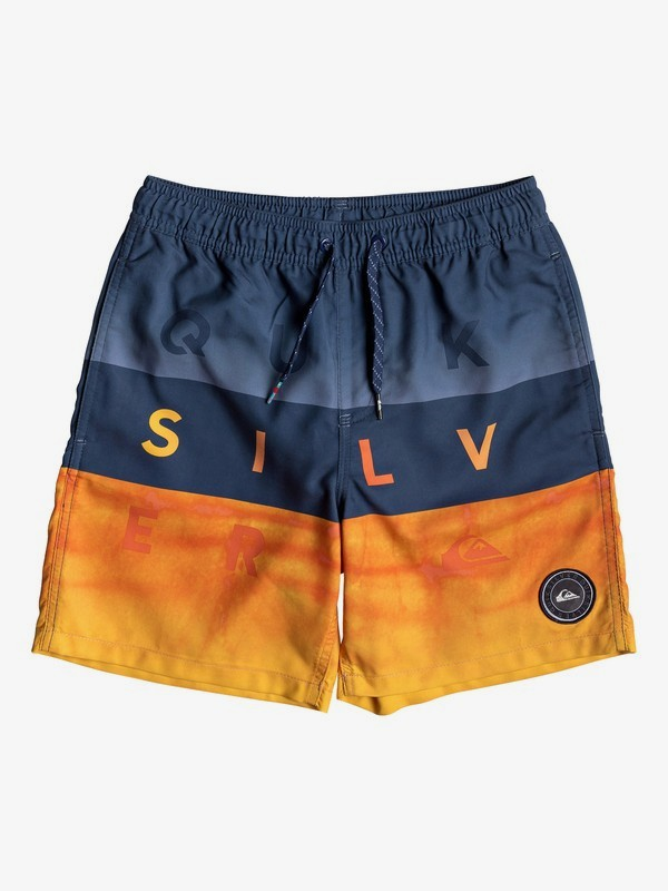 "Word Block 15"" - Swim Shorts for Boys 8-16  EQBJV03200"