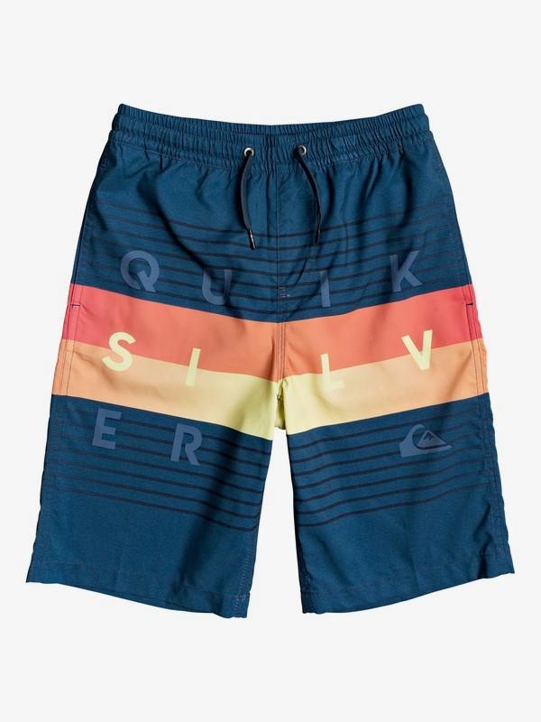 """Word Block 19"""" - Swim Shorts for Boys 8-16  EQBJV03265"""