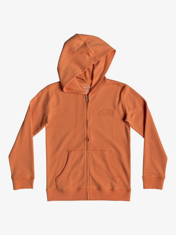 0 Stone Age Romeo - Zip-Up Hoodie for Boys 8-16 Orange EQBKT03212 Quiksilver