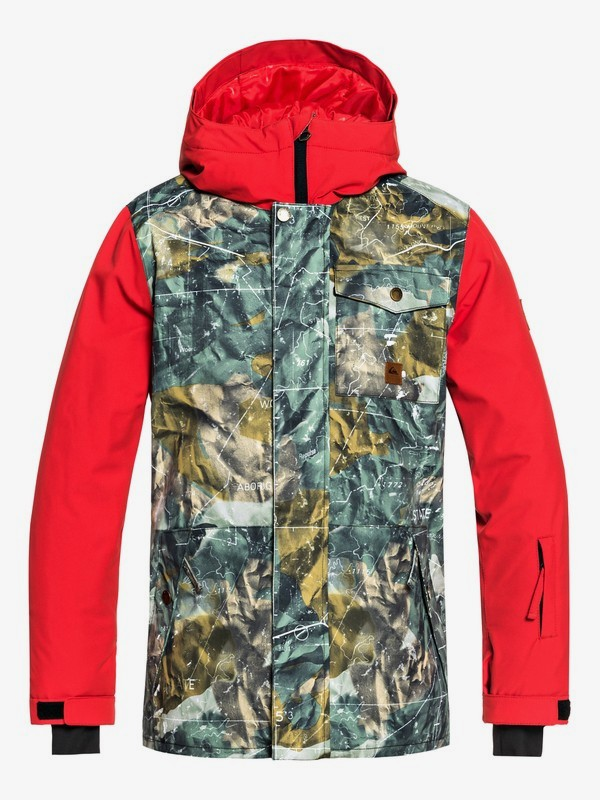 0 Ridge - Snow Jacket for Boys 8-16 Brown EQBTJ03072 Quiksilver