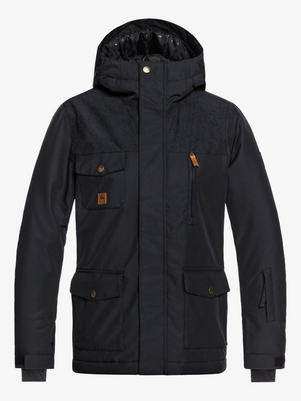 0 Raft - Parka Snow Jacket for Boys 8-16 Black EQBTJ03073 Quiksilver