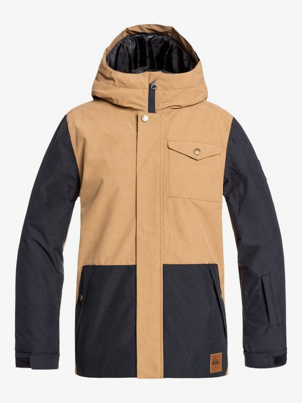 0 Ridge - Snow Jacket for Boys 8-16 Brown EQBTJ03091 Quiksilver