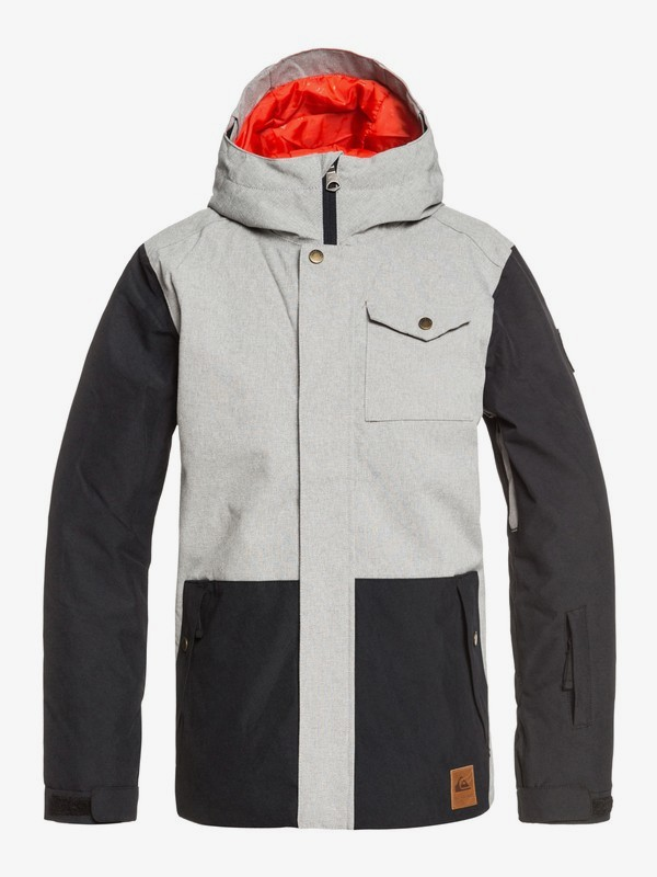 0 Ridge - Snow Jacket for Boys 8-16 Grey EQBTJ03091 Quiksilver