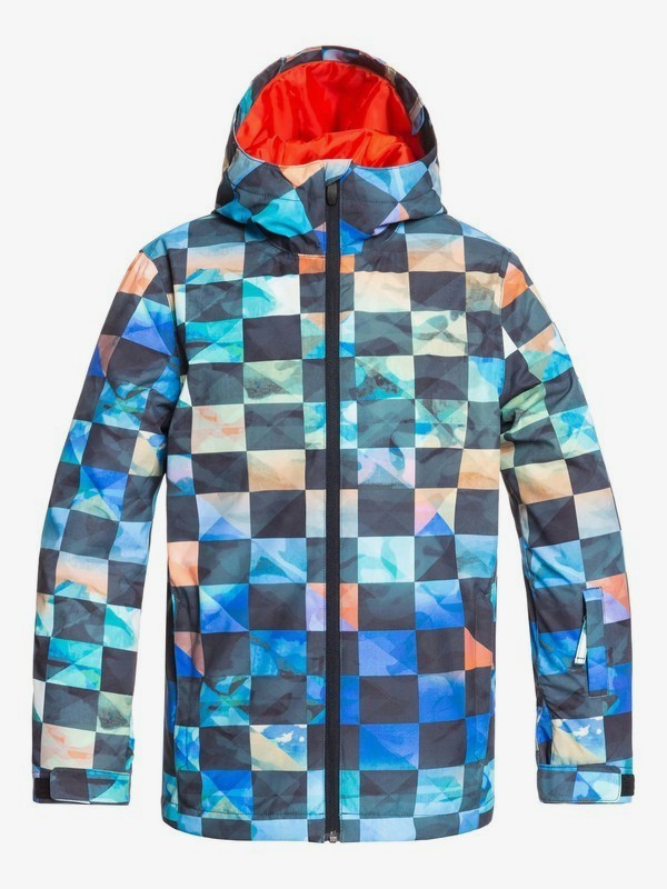 0 Mission - Snow Jacket for Boys 8-16 Orange EQBTJ03098 Quiksilver