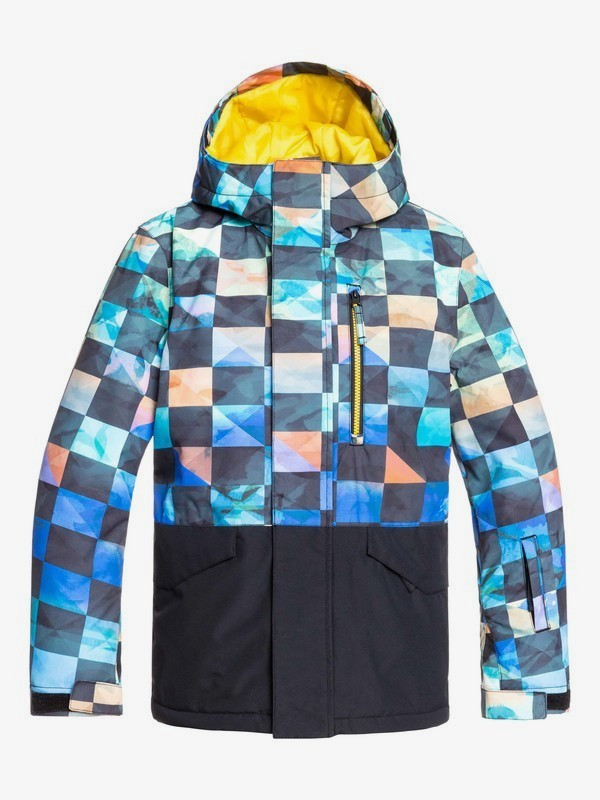 0 Mission Block - Snow Jacket for Boys 8-16 Green EQBTJ03101 Quiksilver