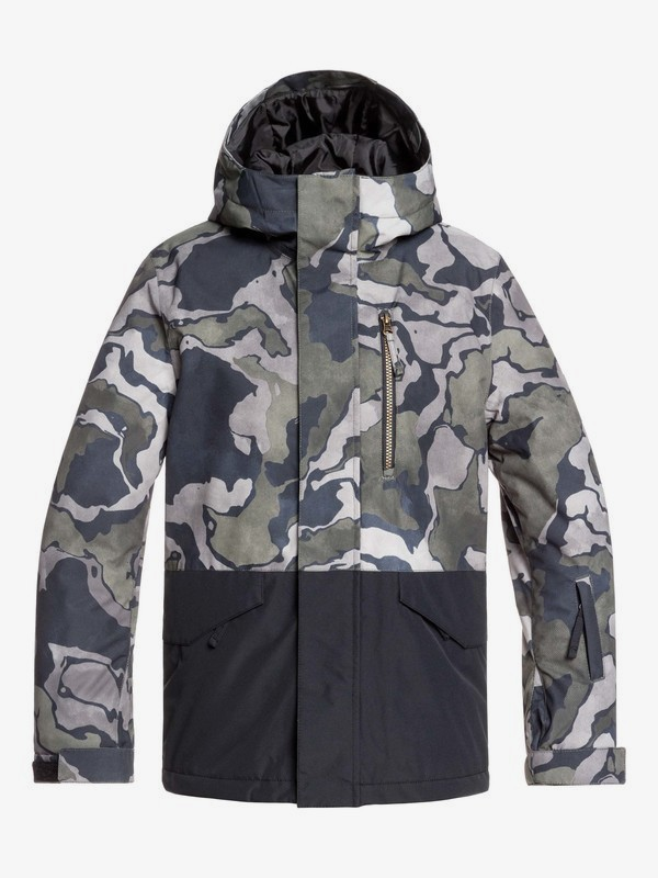 0 Mission Block - Snow Jacket for Boys 8-16 Black EQBTJ03101 Quiksilver
