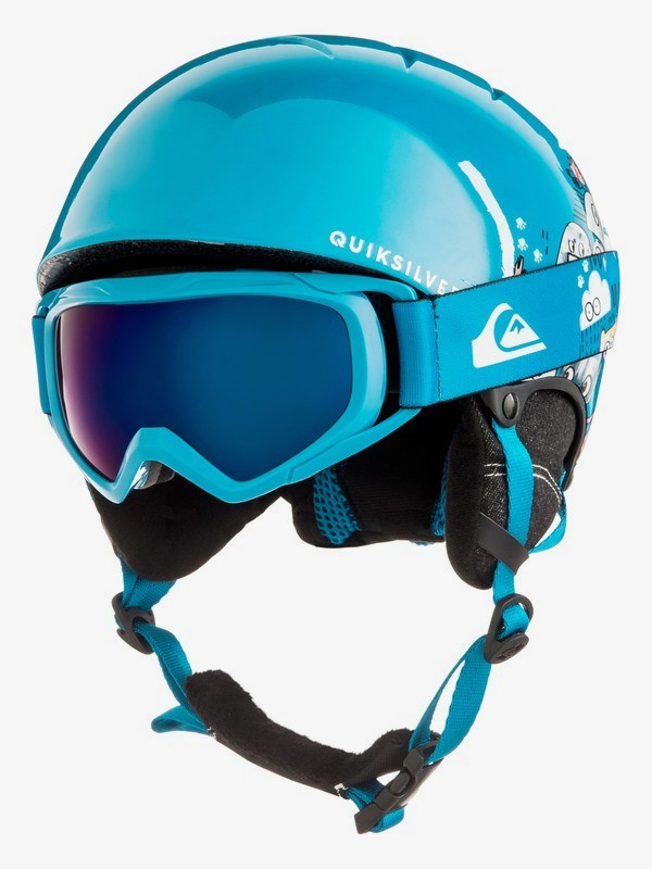 0 The Game Pack - Conjunto de casco y máscara para Chicos 8-16 Azul EQBTL03001 Quiksilver