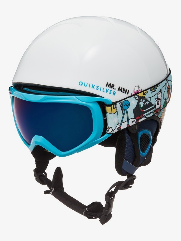 0 The Game Pack - Helmet and Goggle Set for Boys 8-16 White EQBTL03001 Quiksilver