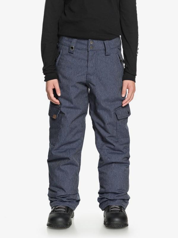 0 Porter - Pantalon de snow cargo pour Garçon 8-16 ans Bleu EQBTP03017 Quiksilver