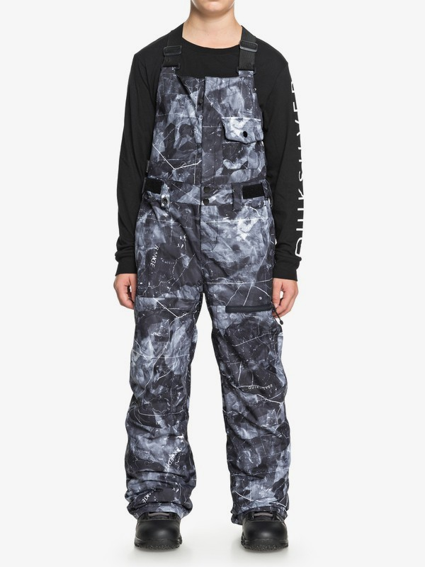 0 Stratus - Snow Bib Pants for Boys 8-16 Black EQBTP03019 Quiksilver