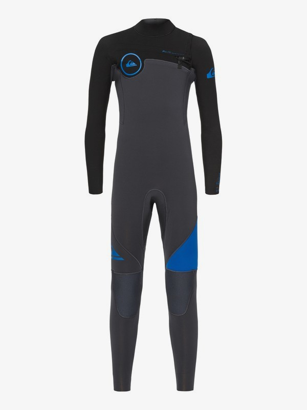 0 3/2mm Syncro Series - Chest Zip GBS Wetsuit for Boys 8-16 Blue EQBW103019 Quiksilver