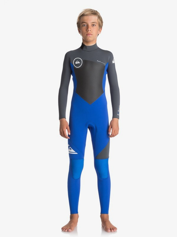 0 3/2mm Syncro Series - Back Zip GBS Wetsuit for Boys 8-16 Purple EQBW103023 Quiksilver