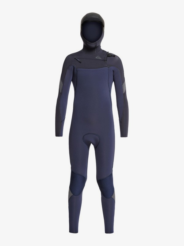 5/4/3mm Syncro - Hooded Chest Zip GBS Wetsuit for Boys 8-16  EQBW203002