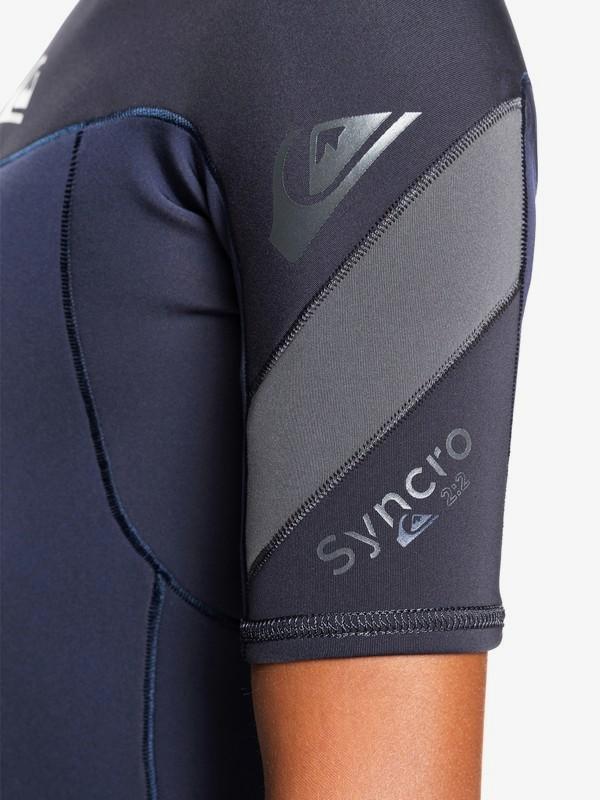 2/2mm Syncro - Short Sleeve Back Zip Springsuit for Boys 8-16  EQBW503014