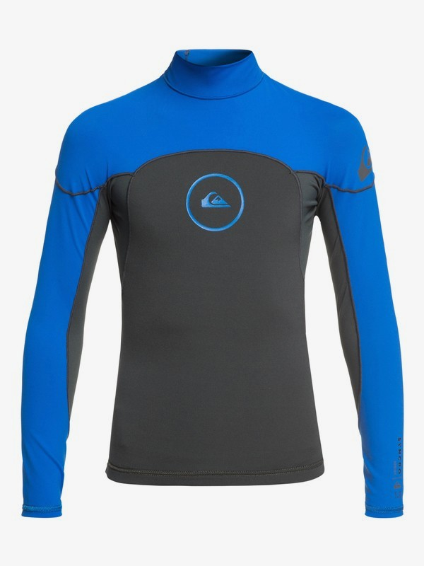 0 1mm Syncro Series - Long Sleeve Neoprene Top for Boys 8-16 Blue EQBW803004 Quiksilver