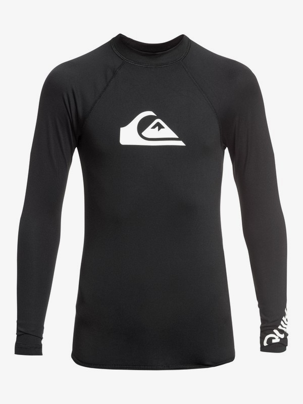 0 All Time - Long Sleeve UPF 50 Rash Vest for Boys 8-16 Black EQBWR03075 Quiksilver