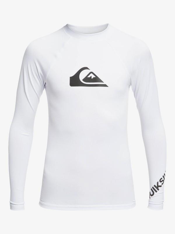 0 All Time - Rash Vest UPF 50 a Maniche Lunghe da Ragazzo 8-16 White EQBWR03075 Quiksilver