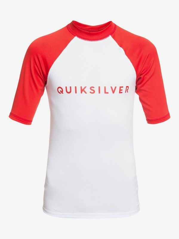 0 Always There - Short Sleeve UPF 50 Rash Vest for Boys 8-16 Red EQBWR03076 Quiksilver