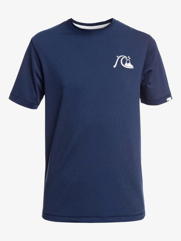 0 Bubble Logo - Surf-tee manches courtes UPF 50 pour garçon 8-16 ans Bleu EQBWR03089 Quiksilver