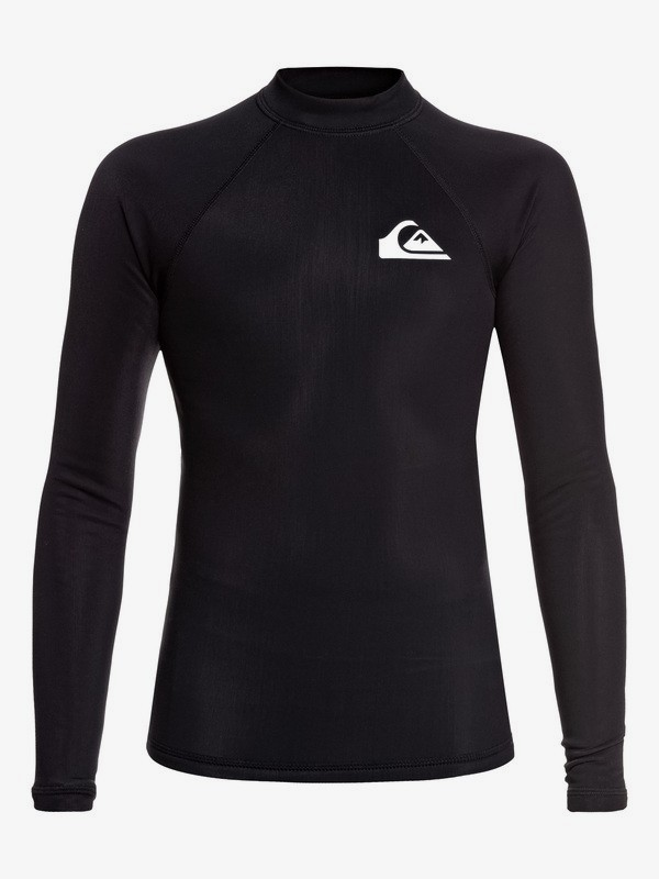 0 Heater - Long Sleeve UPF 50 Rash Vest for Boys 8-16 Black EQBWR03108 Quiksilver