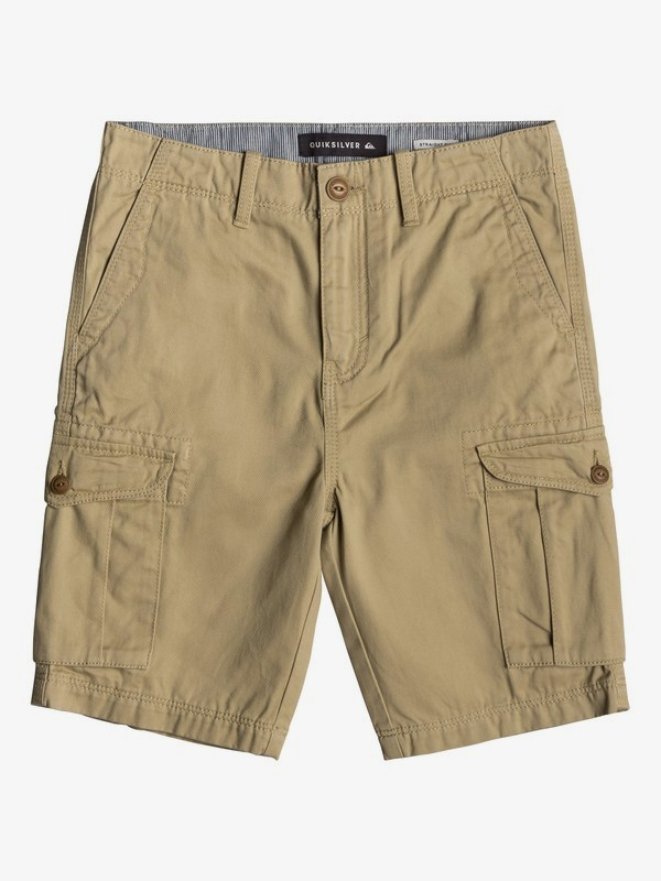 0 Crucial Battle - Short Cargo para Chicos 8-16 Marron EQBWS03226 Quiksilver