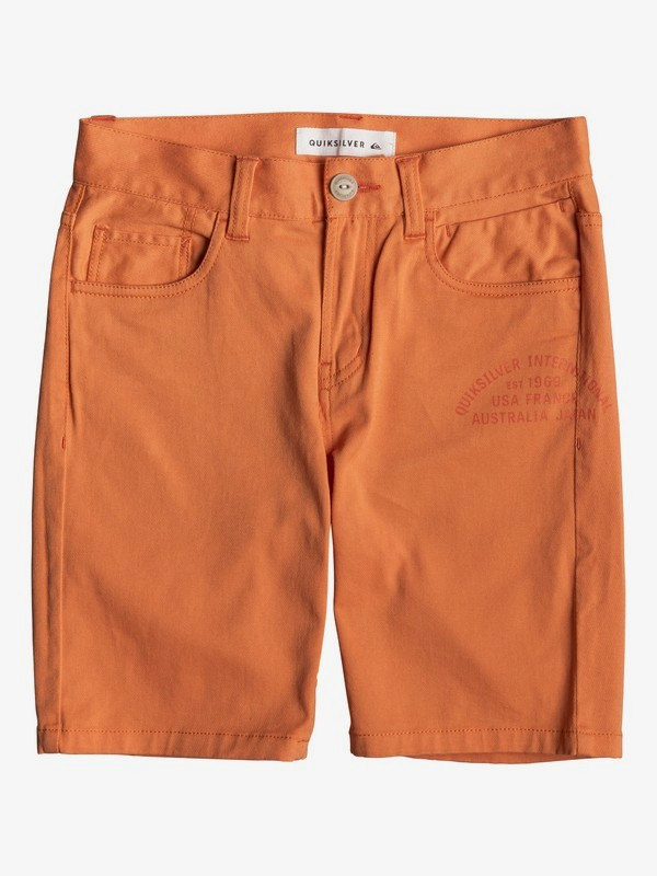 0 Mel Is Born - Short para Chicos 8-16 Naranja EQBWS03275 Quiksilver