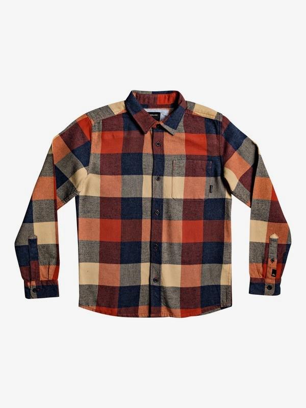 0 Motherfly Flannel - Camisa de manga larga para Chicos 8-16 Rosa EQBWT03227 Quiksilver