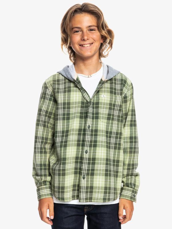 Woodbine - Long Sleeve Hooded Shirt for Boys  EQBWT03335