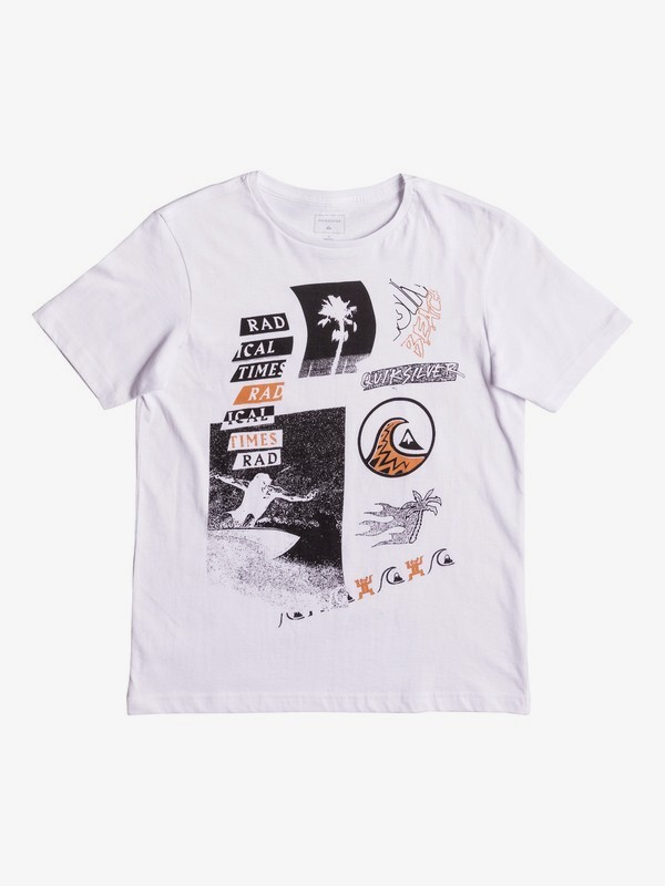 GREY SIZES NEW Quiksilver Boys Printed T Shirt 8 /& 10 YEARS
