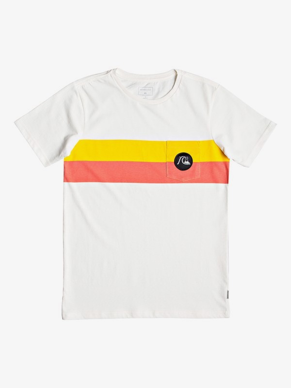 0 Season Stripe - Pocket T-Shirt for Boys 8-16 White EQBZT03918 Quiksilver