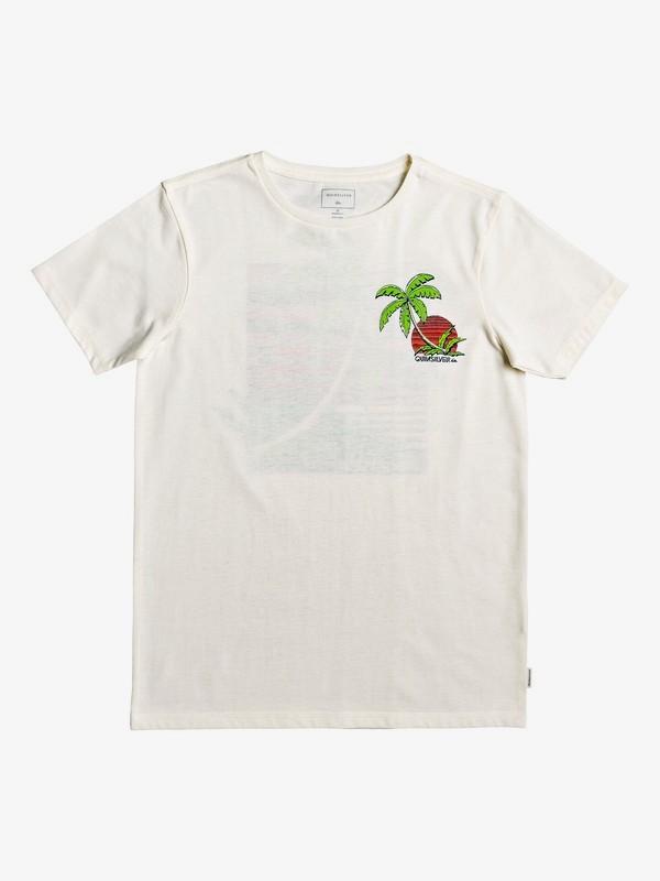 0 In The Jungle - T-Shirt voor Jongens 8-16 White EQBZT04018 Quiksilver