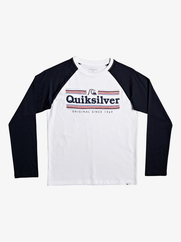 0 Get Buzzy - T-shirt met lange mouwen voor Jongens 8-16 White EQBZT04041 Quiksilver