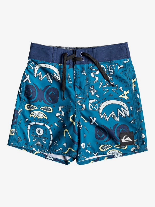 "Mystery Bus 11"" - Board Shorts for Boys 2-7 EQKBS03213"