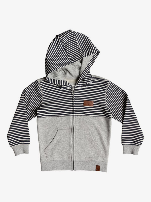 0 Big 2 Do - Zip-Up Hoodie for Boys 2-7 Grey EQKFT03276 Quiksilver