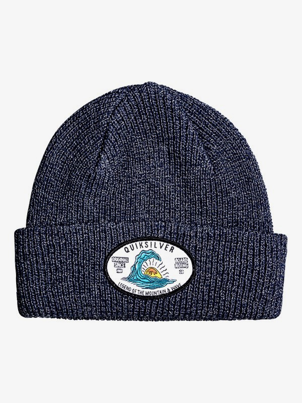 0 Performed Patch - Cuff Beanie for Boys 2-7 Grey EQKHA03027 Quiksilver