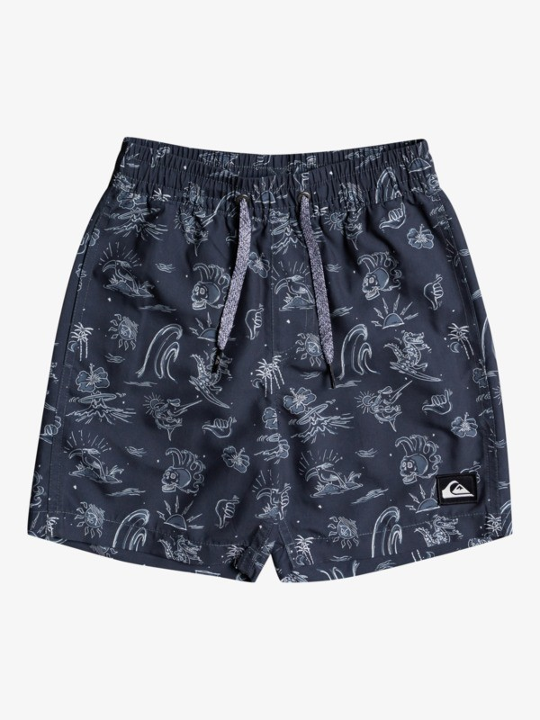 "Wild Life 13"" - Recycled Swim Shorts for Boys 2-7  EQKJV03174"