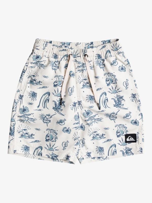 "Wild Life 13"" - Recycled Swim Shorts for Boys 2-7  EQKJV03174"