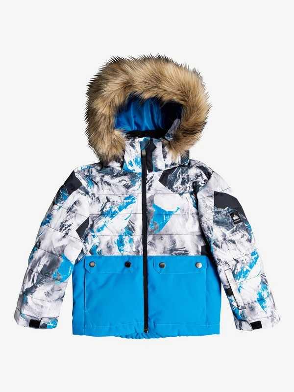 0 Edgy Kids - Snow Jacket for Boys 2-7 Blue EQKTJ03011 Quiksilver