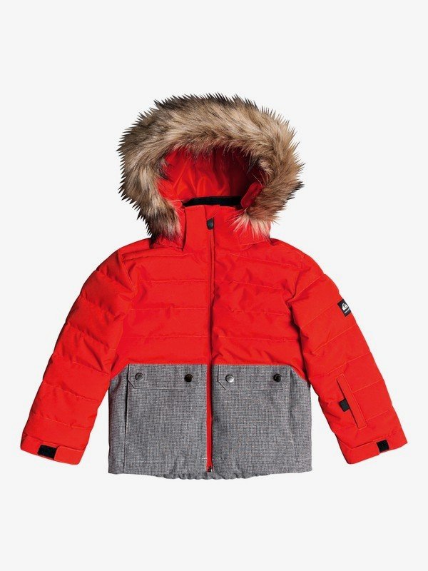 0 Edgy Kids - Snow Jacket for Boys 2-7 Orange EQKTJ03011 Quiksilver