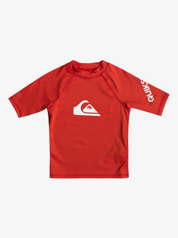 0 All Time - Short Sleeve UPF 50 Rash Vest for Boys 2-7 Red EQKWR03049 Quiksilver