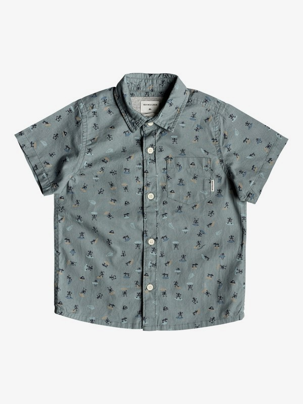 Mini Motif - Short Sleeve Shirt for Boys 2-7 EQKWT03152