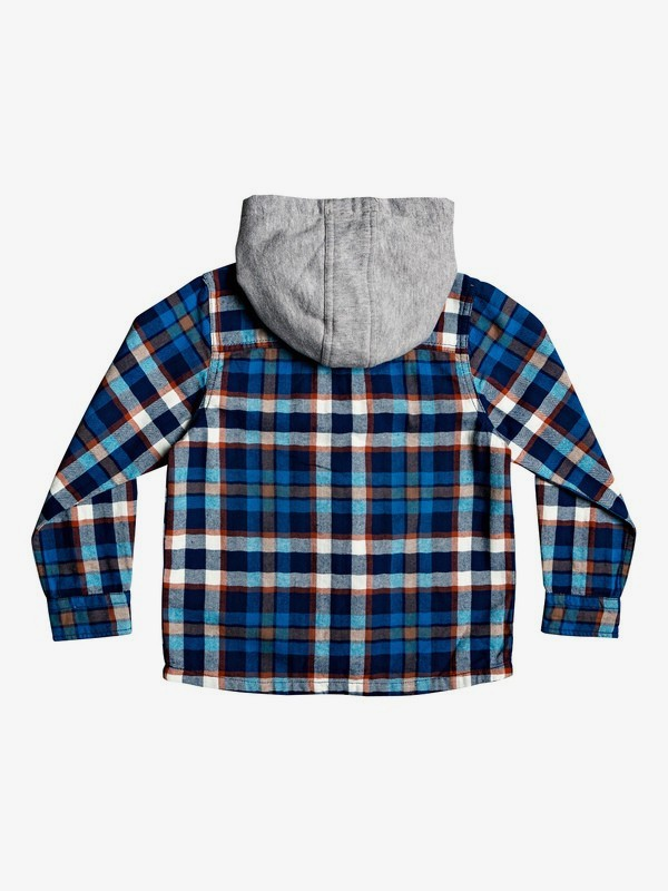 Snap Up - Long Sleeve Hooded Shirt for Boys 2-7  EQKWT03163