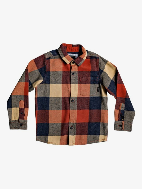 Motherfly Flannel - Long Sleeve Shirt for Boys 2-7  EQKWT03164