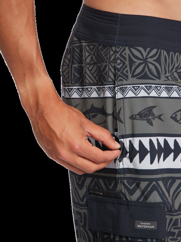 """Waterman Angler Print 20"""" - Recycled Beachshorts for Men  EQMBS03084"""
