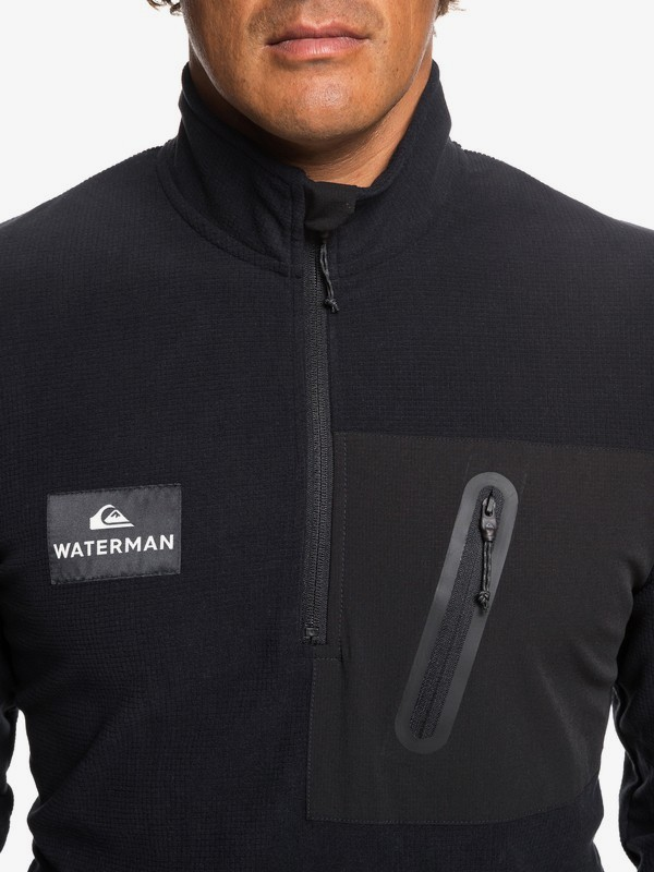 Waterman Hidden View - Mock Neck Half-Zip Fleece for Men  EQMFT03034
