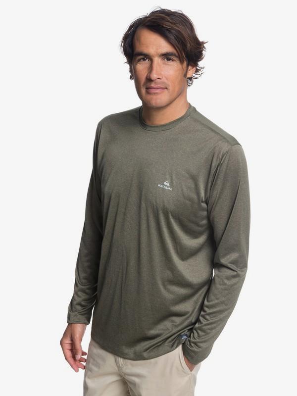 0 Waterman Heat Runner - Long Sleeve T-Shirt for Men Brown EQMKT03040 Quiksilver