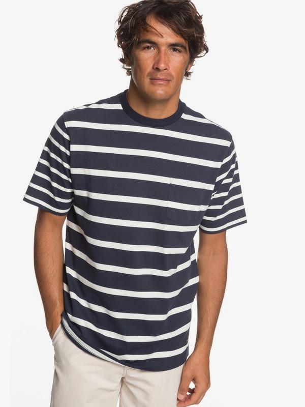 0 Waterman Sea Fight - Pocket T-Shirt for Men Blue EQMKT03053 Quiksilver