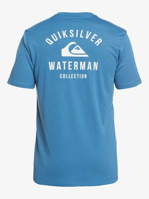 Waterman Gut Check - Amphibian Short Sleeve UPF 40 Rash Vest for Men  EQMWR03040