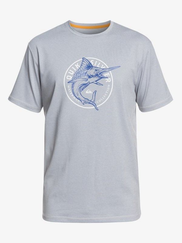 0 Waterman Watermarked - Camiseta de Surf con UPF 50 para Hombre Gris EQMWR03053 Quiksilver
